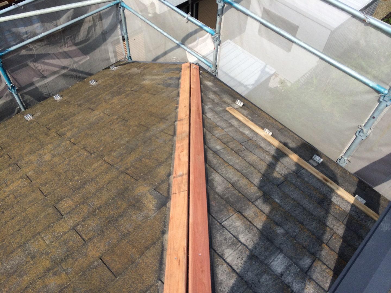 【東京都八王子市】スレート・レサス屋根、棟板金の交換工事と、ひび割れ修理の事例8