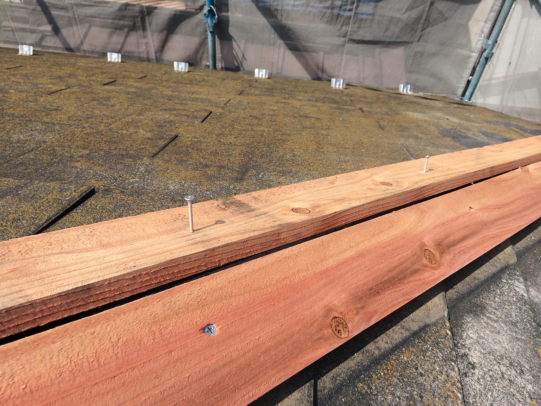 【東京都八王子市】スレート・レサス屋根、棟板金の交換工事と、ひび割れ修理の事例10