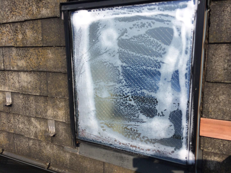 【東京都八王子市】トステムの天窓のガラスパッキンのメンテナンス工事の事例4