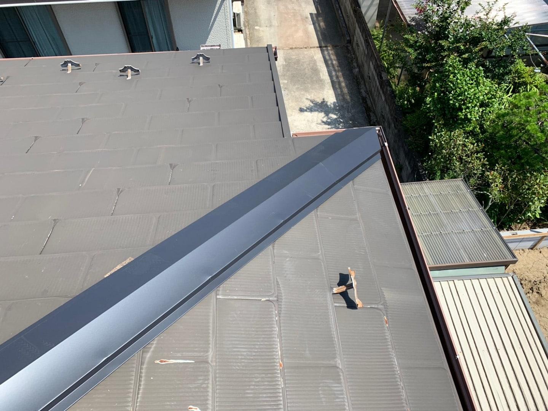 【千葉県市原市】台風で被災した金属屋根、棟板金の交換修理工事の事例8