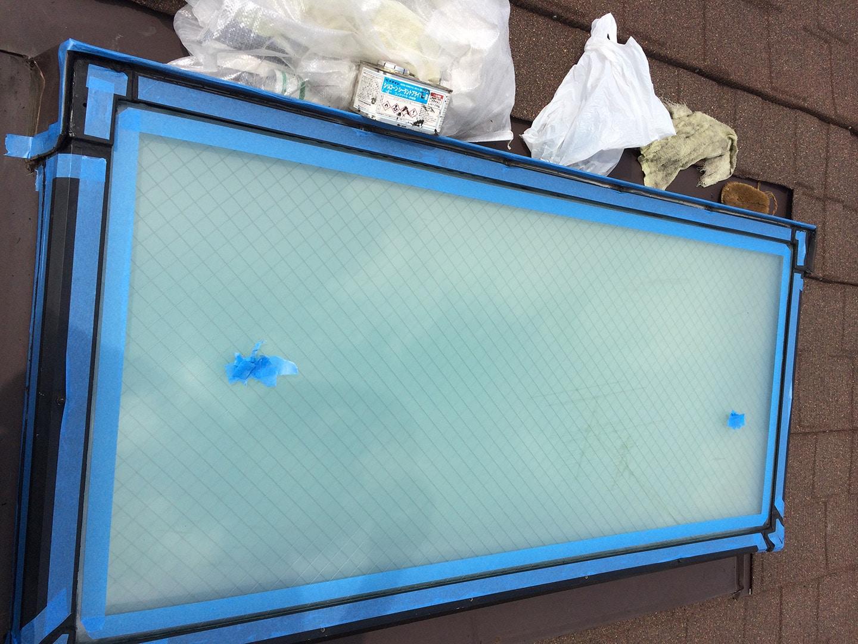 【神奈川県大和市】立山アルミの天窓のガラスパッキン劣化による雨漏りの修理工事の事例8