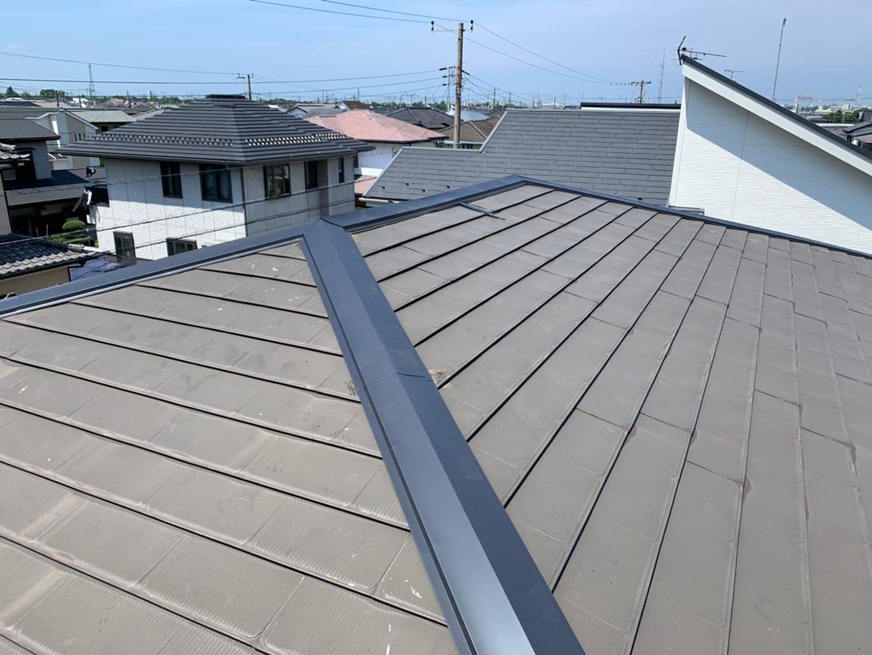 【千葉県市原市】台風で被災した金属屋根、棟板金の交換修理工事の事例10