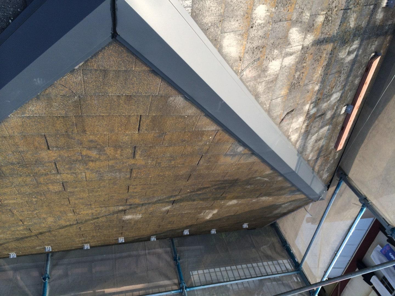 【東京都八王子市】スレート・レサス屋根、棟板金の交換工事と、ひび割れ修理の事例13