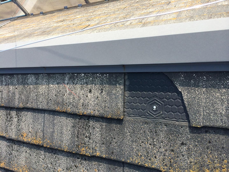 【東京都八王子市】スレート・レサス屋根、棟板金の交換工事と、ひび割れ修理の事例22