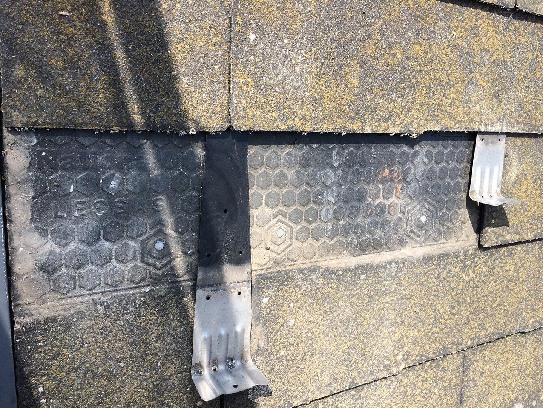 【東京都八王子市】スレート・レサス屋根、棟板金の交換工事と、ひび割れ修理の事例26