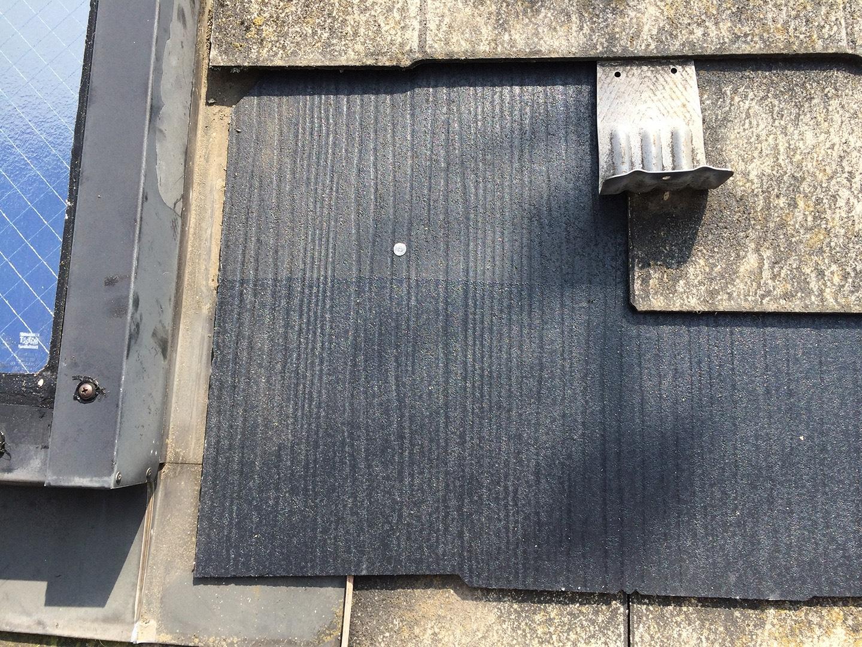 【東京都八王子市】スレート・レサス屋根、棟板金の交換工事と、ひび割れ修理の事例29