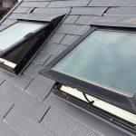 【千葉県松戸市】松下電工の電動開閉式の天窓、ガラスパッキン劣化による雨漏りの修理工事の事例