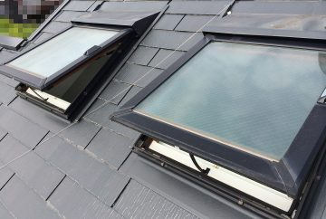 【千葉県松戸市】天窓のガラスパッキン劣化による雨漏りの修理工事の事例2