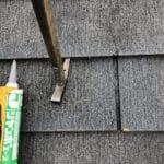 【東京都調布市】スレート屋根の棟板金の釘の増し打ち、ひび割れ補修工事の事例