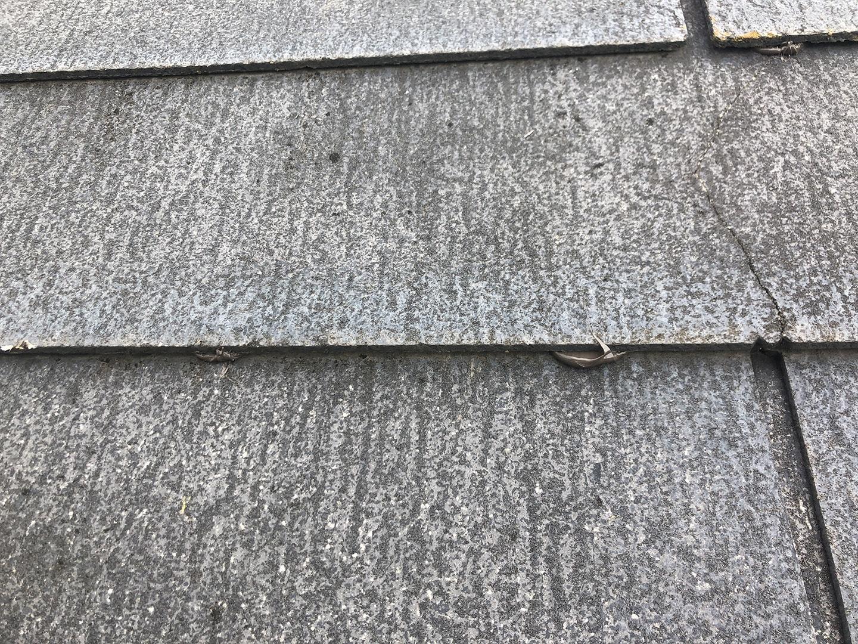 【東京都調布市】スレート屋根の棟板金の釘の増し打ち、ひび割れ補修工事の事例8