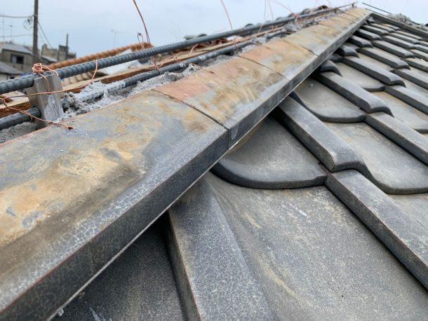 ガイドライン工法を使った瓦屋根