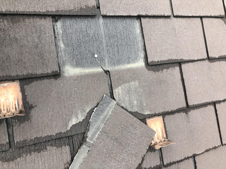 【東京都杉並区】スレート屋根の「 ズレ落ち 」補修工事の事例3