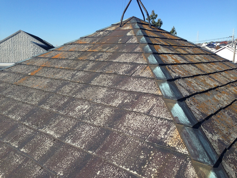 スレート屋根 カバー工法 工事事例1