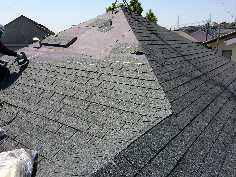 スレート屋根 カバー工法 工事事例2
