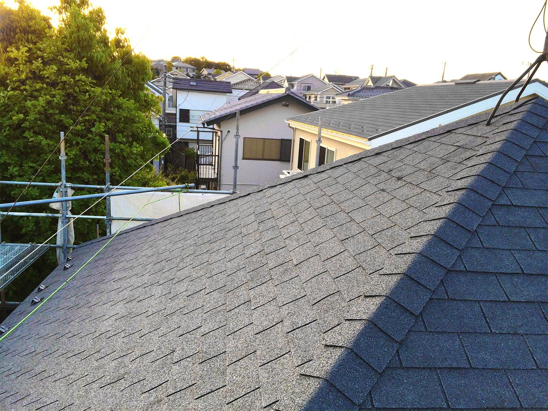 スレート屋根 カバー工法 工事事例3