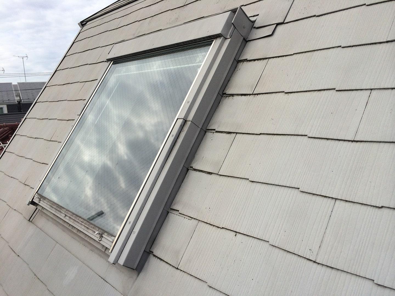 ベルックス天窓 ガラスシール  工事前4