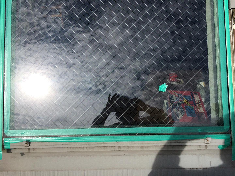 ベルックス天窓 ガラスシール ガラス養生