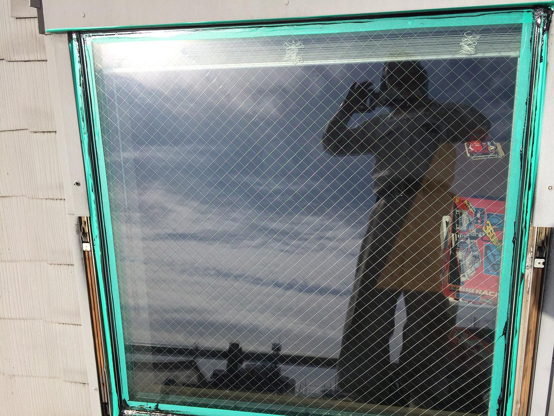 ベルックス天窓 ガラスシール コーキング