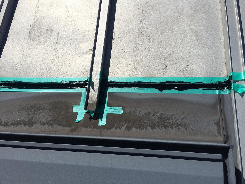 ベルックス天窓 ガラスシール工事 その他防水部