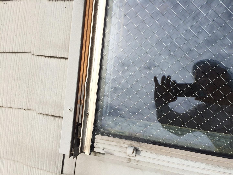 ベルックス天窓 ガラスシール 工事完了1