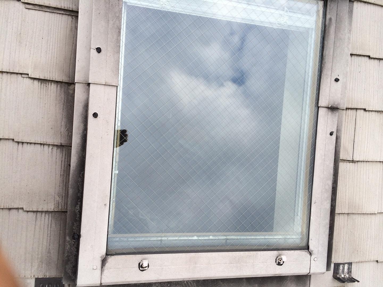 ベルックス天窓 ガラスシール 工事完了3