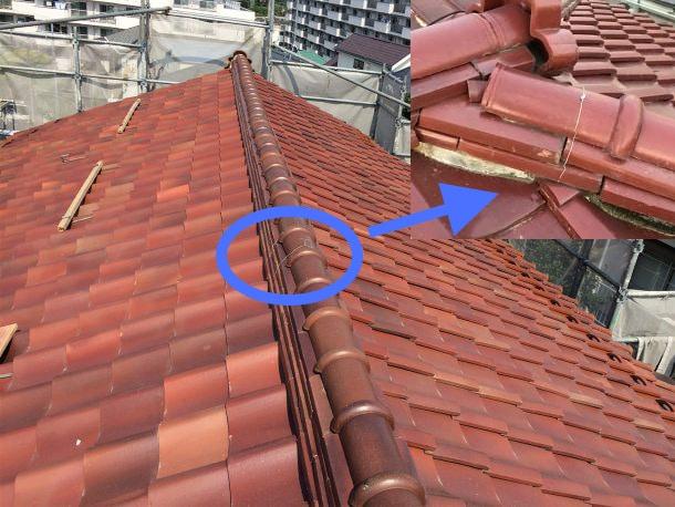 瓦屋根の補強事例1