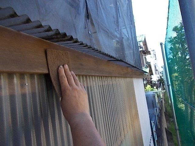 外壁塗装 物置木部 下地処理