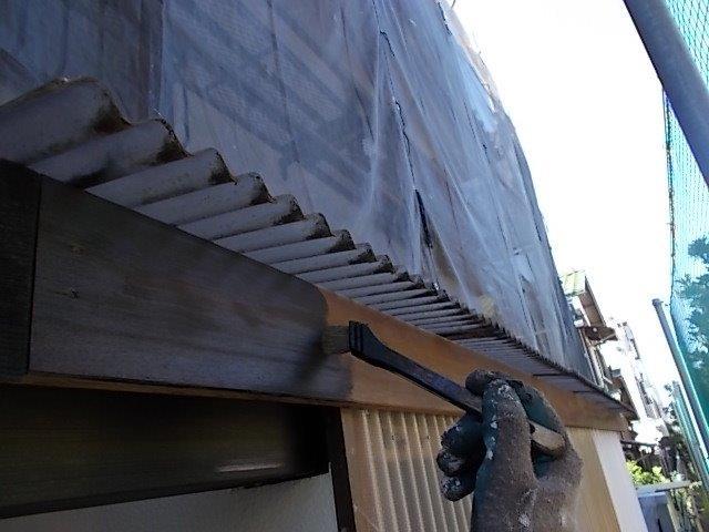 外壁塗装 物置木部 仕上げ