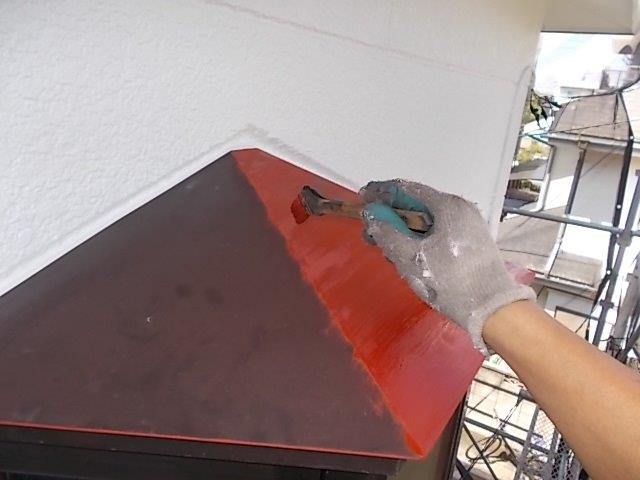 外壁塗装 出窓上金属庇 錆び止め
