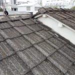 【東京都品川区】厚型スレート (コンクリ瓦) 屋根の雨漏り、部分修理工事の事例