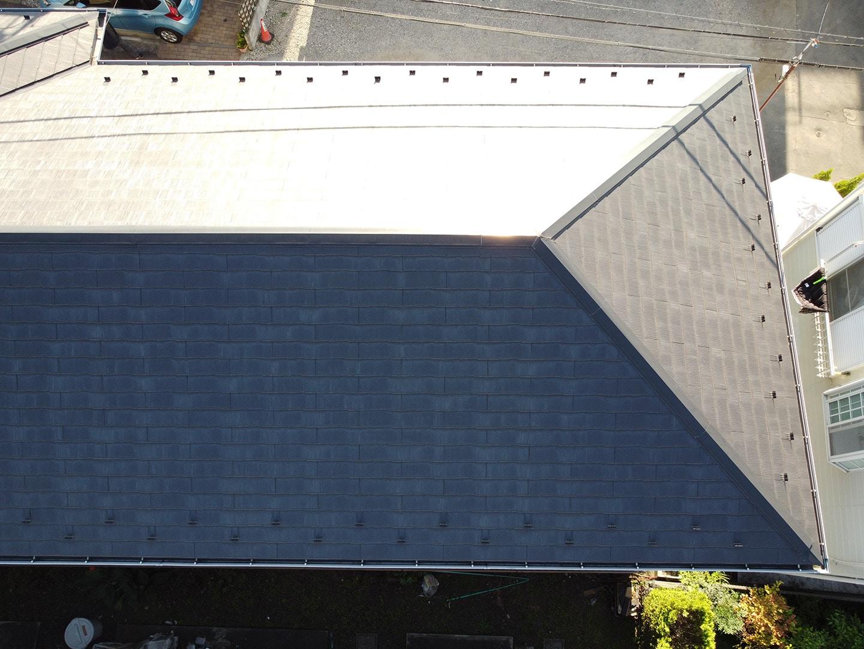 【横浜市鶴見区】スレート屋根の雨漏り、部分修理工事の事例 点検