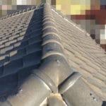 【東京都西東京市】瓦屋根の棟の取り直し工事、耐震補強工事 (ガイドライン工法) の事例