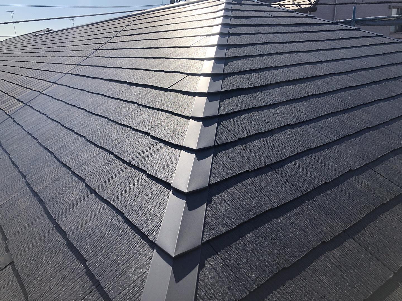 【横浜市鶴見区】スレート屋根の雨漏り、部分修理工事の事例 工事完了