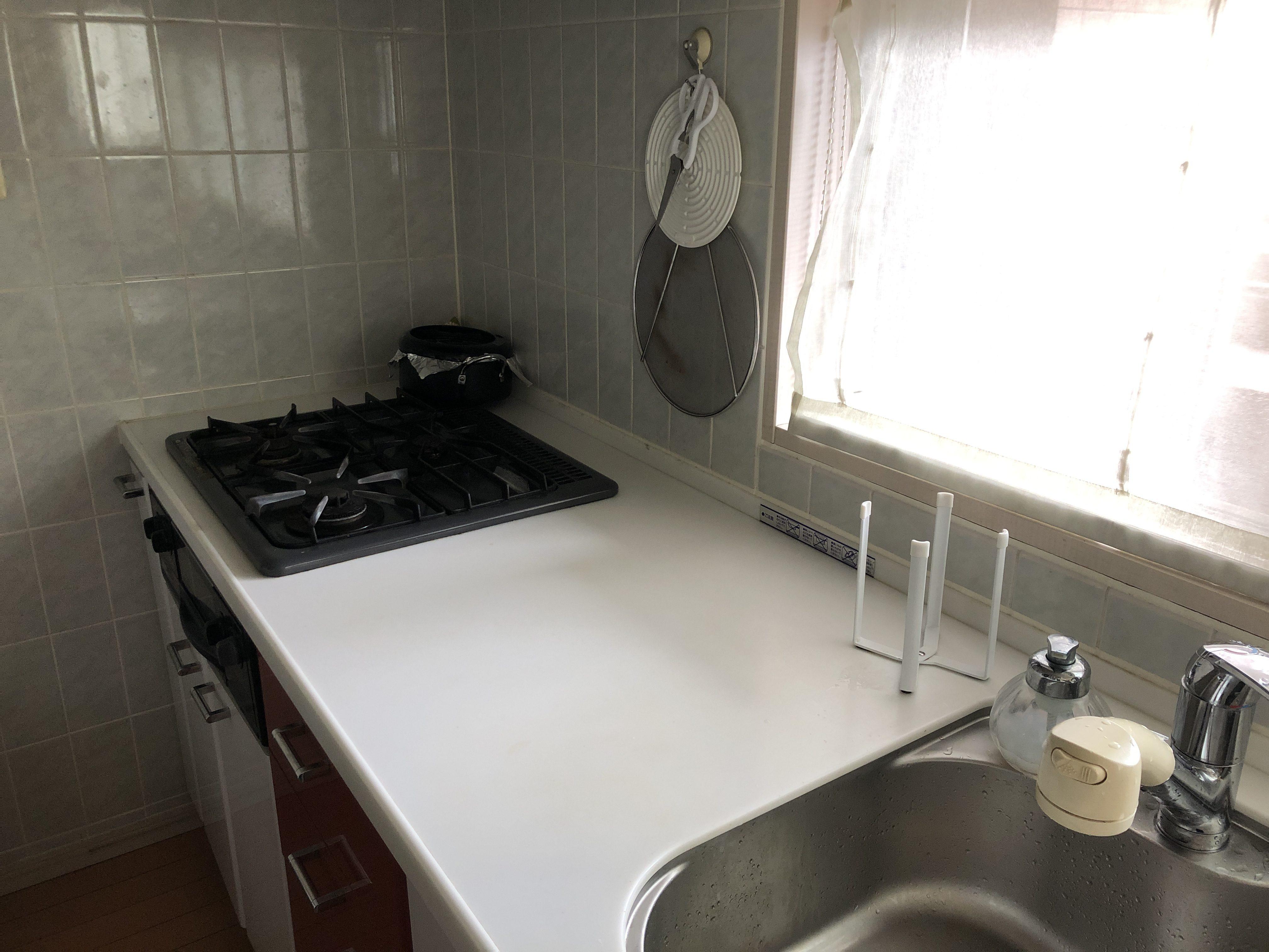 妻が片づけたキッチン