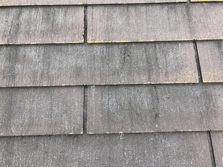 スレート屋根材のひび割れ補修完了 全景