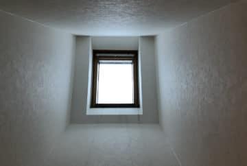 ベルックス天窓雨漏り修理事例 室内状況