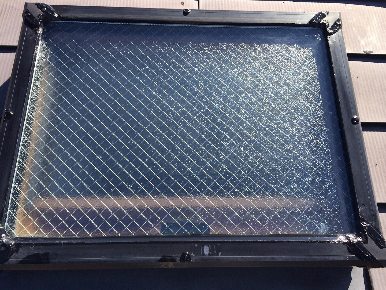 天窓のガラスパッキンの雨漏り予防メンテナンス工事の事例 工事完了