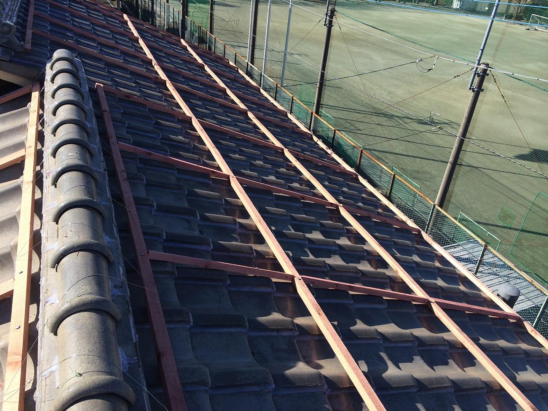 【さいたま市浦和区】瓦屋根の台風対策。瓦屋が考えた新しいラバーロックの工事事例と価格 ウッドロック工事完了