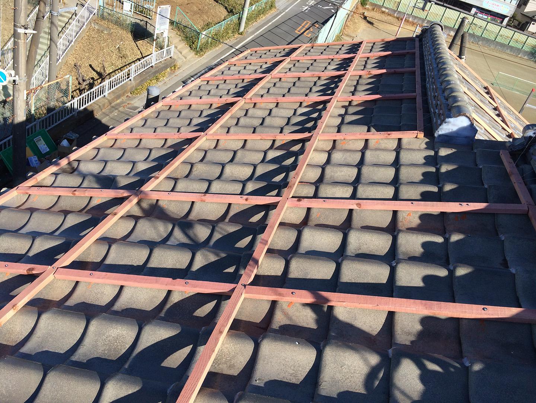 【さいたま市浦和区】瓦屋根の台風対策。瓦屋が考えた新しいラバーロックの工事事例と価格 ウッドロックの施工