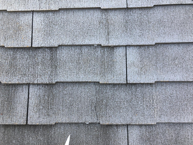 【埼玉県川口市】スレート屋根の点検、ひび割れ補修工事の事例 軽度のひび割れ補修完了