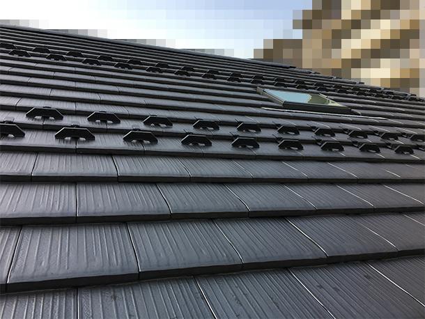 雪止めを2列に増やした屋根