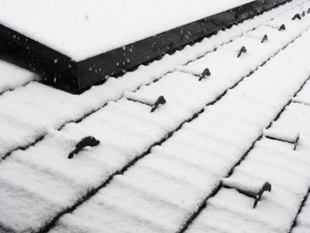 雪止めの間隔が変化するポイント
