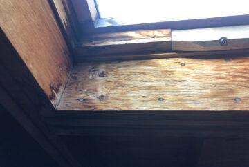 天窓雨漏り 室内側