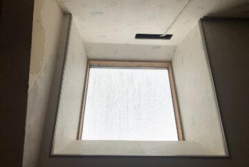 横浜市青葉区 YKKAP天窓ガラスシール工事事例 室内側状況