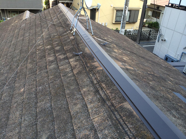 東京都大田区 スレート屋根 棟交換工事完了