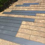 【東京都大田区】スレート屋根、棟板金の交換修理、ひび割れをガルバで部分カバーする工事の事例