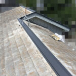 【横浜市瀬谷区】スレート屋根、棟板金の交換修理の工事の事例
