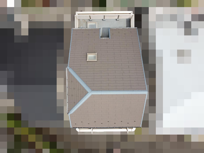 【東京都大田区】スレート屋根の天窓雨漏り ドローン全景