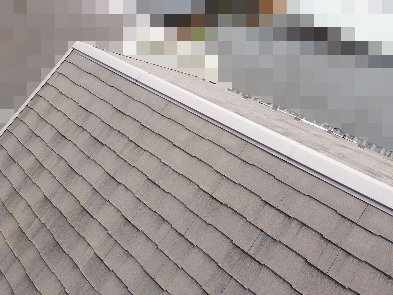 【さいたま市桜区】築18年、アスベスト未使用のスレート屋根のひび割れで、屋根点検の事例 ドローン棟