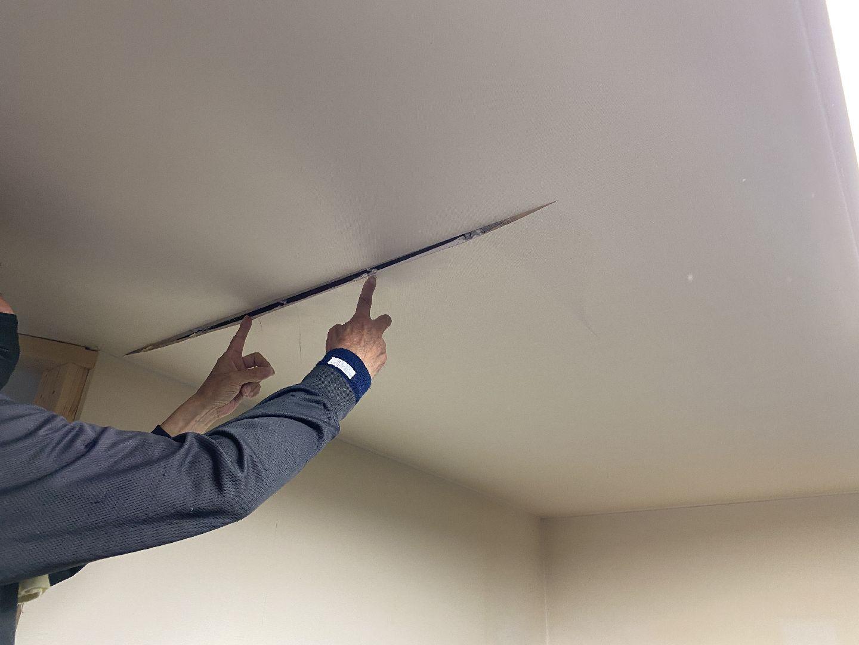 天井板(ボード)の確認 リフォーム